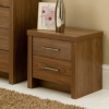 Ascot Bedside Cabinet - Walnut Effect main view