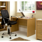 Ascot Desk - Oak Effect