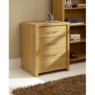Ascot Filing Cabinet - Oak Effect