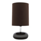 ASDA Pebble Table Lamp - Chocolate
