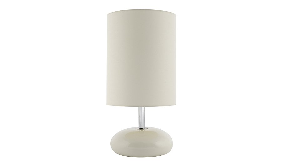 george home pebble table lamp cream lighting george. Black Bedroom Furniture Sets. Home Design Ideas