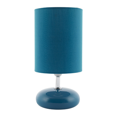 asda pebble table lamp teal teal as1822 bl review. Black Bedroom Furniture Sets. Home Design Ideas