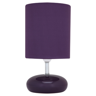 asda pebble table lamp purple purple as1822 pu review. Black Bedroom Furniture Sets. Home Design Ideas