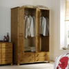 Hampton Pine 3 Door Wardrobe with 4 Drawers alternative view
