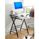 ASDA Glass Computer Desk - White