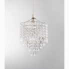 ASDA Easy Fit Crystal Droplet Light Pendant - Clear