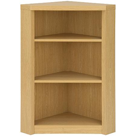 Ancona bookcase in oak view all living room asda direct - Small corner shelf unit wood ...
