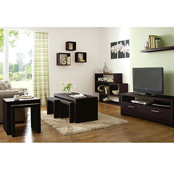 Ancona living room range walnut effect living dining - Walnut effect living room furniture ...