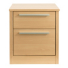 Melbourne Bedside Chest with 2 Drawers - Beech Effect alternative view