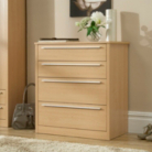 Melbourne 4 Drawer Wide Chest - Beech Effect