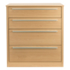 Melbourne 4 Drawer Wide Chest - Beech Effect alternative view