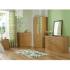 Melbourne 2 Door Wardrobe with 2 Drawers - Oak Effect main view