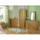 Melbourne 2 Door Wardrobe with 2 Drawers - Oak Effect