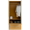 Melbourne 2 Door Wardrobe with 2 Drawers - Oak Effect alternative view