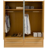 Melbourne 4 Door Wardrobe with 4 Drawer- Oak Effect alternative view