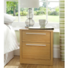 Melbourne Bedside Chest With 2 Drawers - Oak Effect