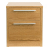 Melbourne Bedside Chest With 2 Drawers - Oak Effect alternative view
