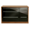 Melbourne 6 Drawer Wide Chest - Black Gloss & Walnut Effect alternative view
