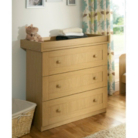 Malvern Baby Changing Unit - Oak Effect