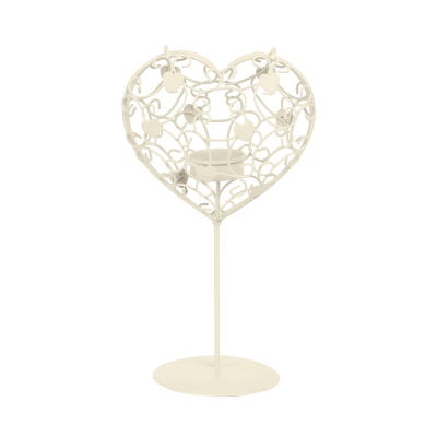 ASDA Tealight Stand - Heart, Cream