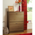 ASDA Walnut Effect Shoe Rack Cabinet