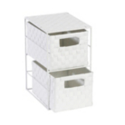 ASDA Weave 2 Drawer Storage Unit - White