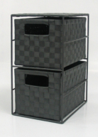 ASDA Weave 2 Drawer Storage Unit - Black