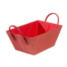 ASDA Canvas Tote Storage Basket - Red