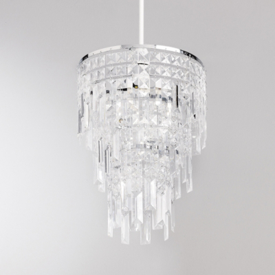ASDA Square Droplet Pendant - Clear