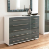 Minsk Grey Gloss Chest - 10 Drawers main view