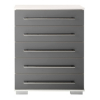 Minsk Grey Gloss Chest - 5 Drawers alternative view