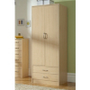 Florida Birch Wardrobe - 2 Door - 2 Drawer main view