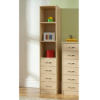 Florida Birch Shelving Wardrobe - 4 Drawer main view