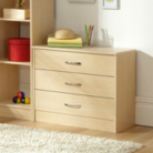 Florida Birch Wide Chest - 3 Drawer