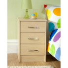 Florida Birch Bedside Chest - 3 Drawer