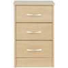 Florida Birch Bedside Chest - 3 Drawer alternative view