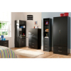 Dublin Black Wardrobe - 2 Door - 2 Drawer alternative view