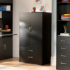 Dublin Combi Wardrobe - Black main view