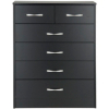 Dublin Black Wide Chest - 6 Drawer alternative view