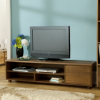Strasbourg Wide Media Unit - 1 Door - Walnut Veneer main view