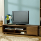 Strasbourg Wide Media Unit - 1 Door - Walnut Veneer