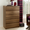 Strasbourg Chest - 6 Drawer - Walnut Veneer main view