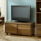 Strasbourg Media Unit - 1 Door - 2 Drawer - Walnut Veneer
