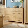 Montreaux Chest - 8 Drawer - Oak Veneer main view
