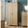 Montreaux Wardrobe - 2 Door - Oak Veneer main view