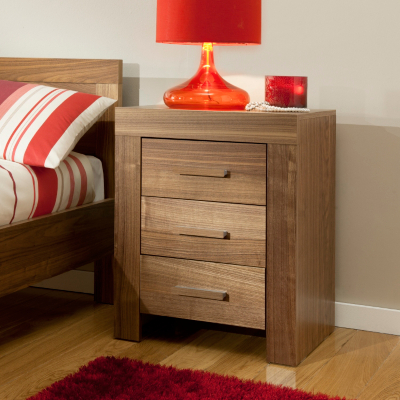 Asda Victoria 3 Drawer Bedside Cabinet Walnut Bedroom Furniture Review Compare Prices Buy