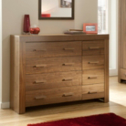 Victoria 4 and 4 Drawer Chest - Walnut Veneer