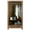 Victoria 2 Door 1 Drawer Wardrobe - Walnut Veneer alternative view