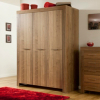 Victoria 3 Door Wardrobe - Walnut Veneer main view
