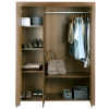 Victoria 3 Door Wardrobe - Walnut Veneer alternative view
